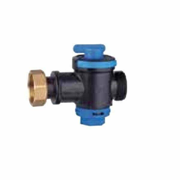robinet tehnopolimer cu filtru inox 1 1/4 albastru
