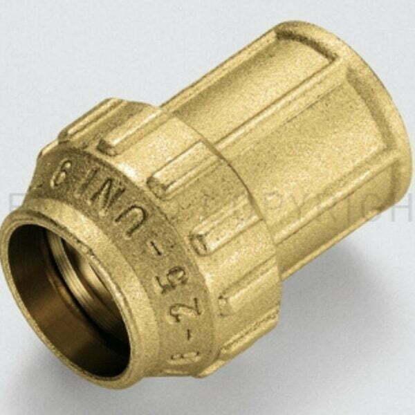 Racord drept F ISO7/EN 10226 cu inel din alama