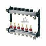 Distribuitor TECEfloor SLQ RECTANGULAR otel inox, complet echipat 10 cai x 3_4_ x 1_